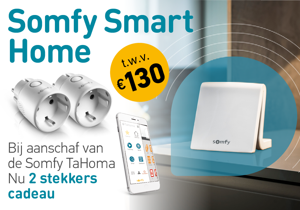 Somfy smart home tahoma promotie