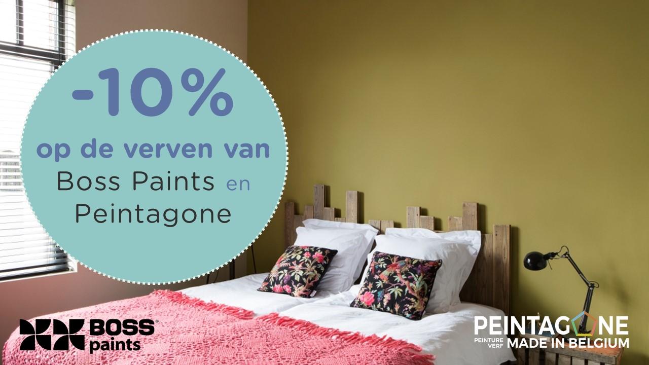 10% korting op onze verven van boss paints en Peintagone