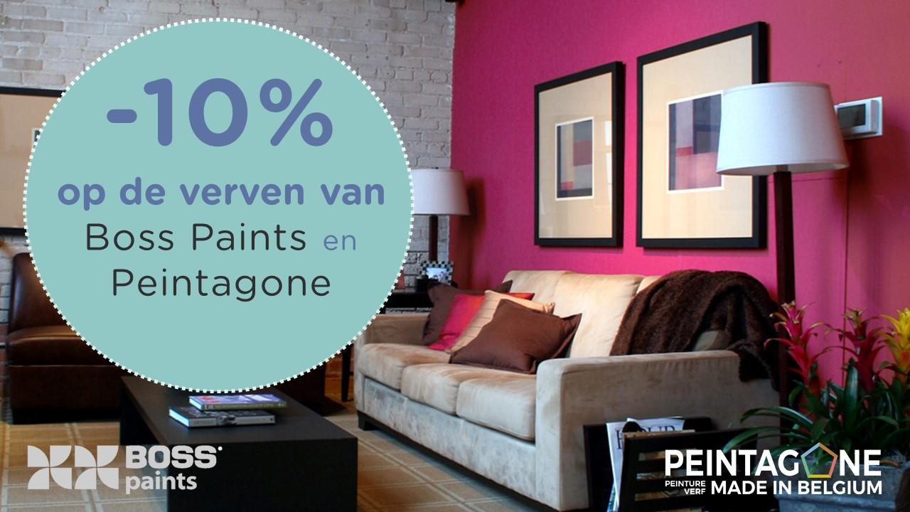 10% korting op de verven van boss paints en peintagone